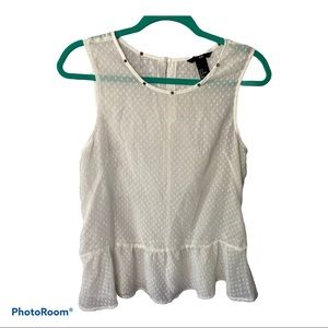 H&M Ivory sheer baby doll started top size 8